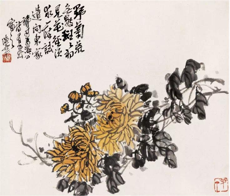陈半丁花卉册页 温润 灵动