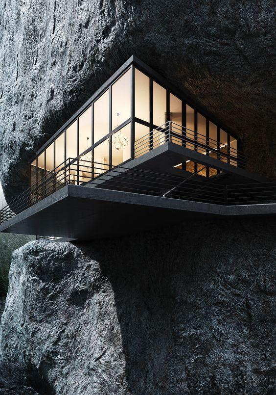 建在山上的建筑