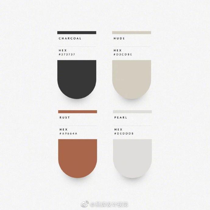 高级感配色方案,高颜值配色方案参考,太精致了