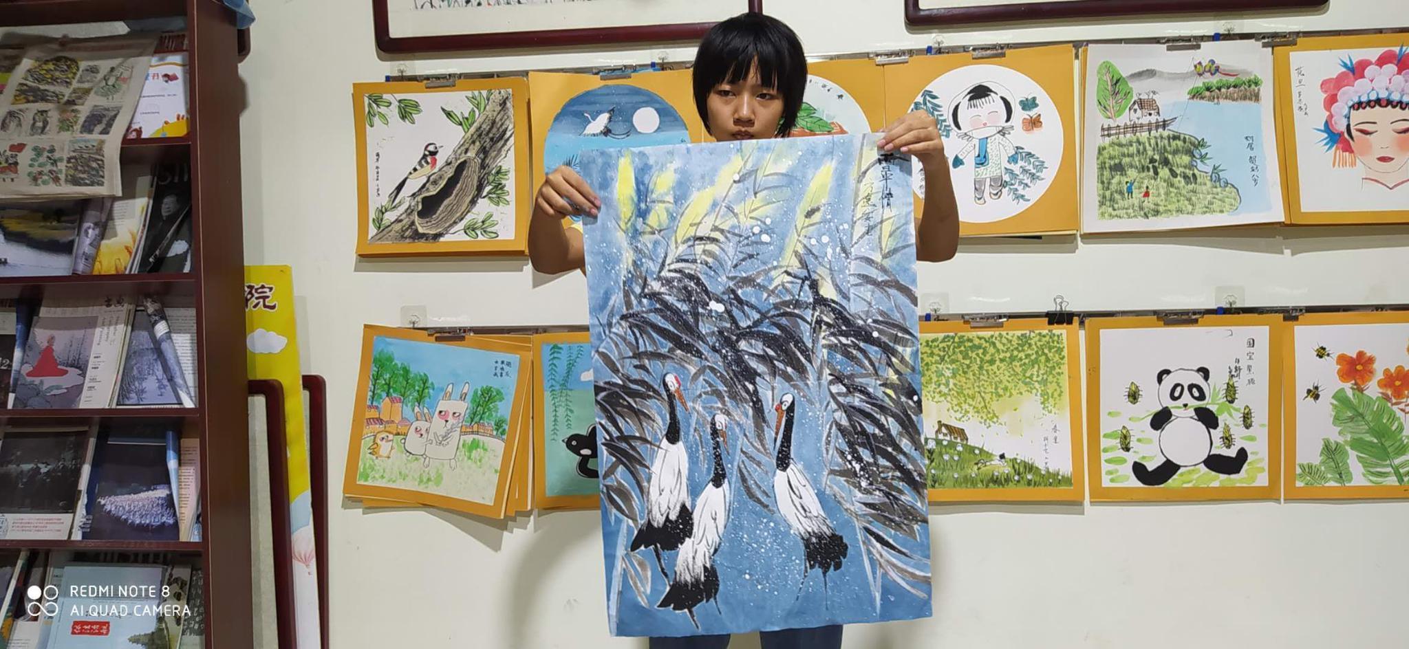 中国画的灵魂就是线条,小学生在学习国画过程中可以通过写生
