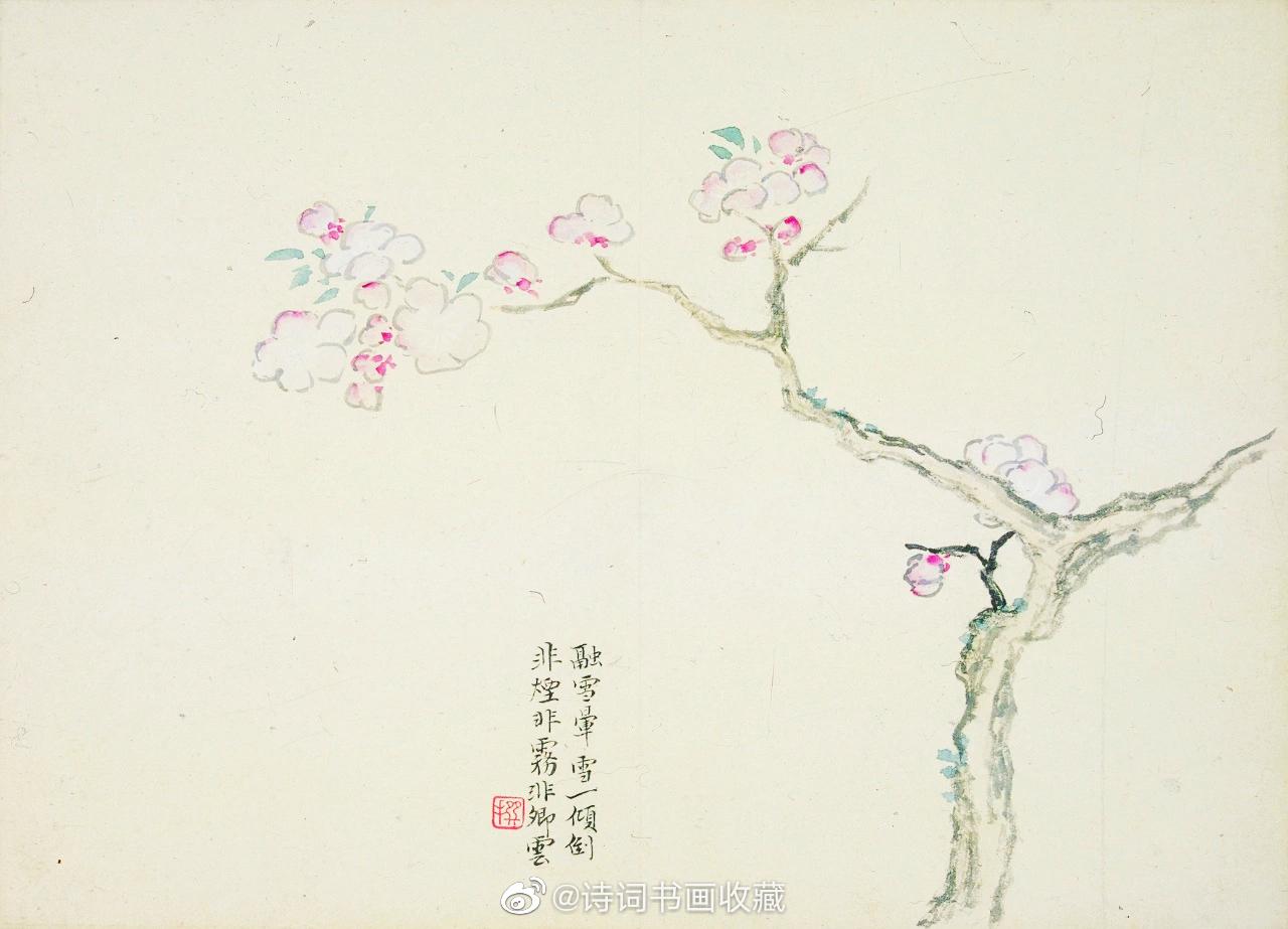 清·陈撰《折枝花卉册》疏简闲逸、清雅超脱