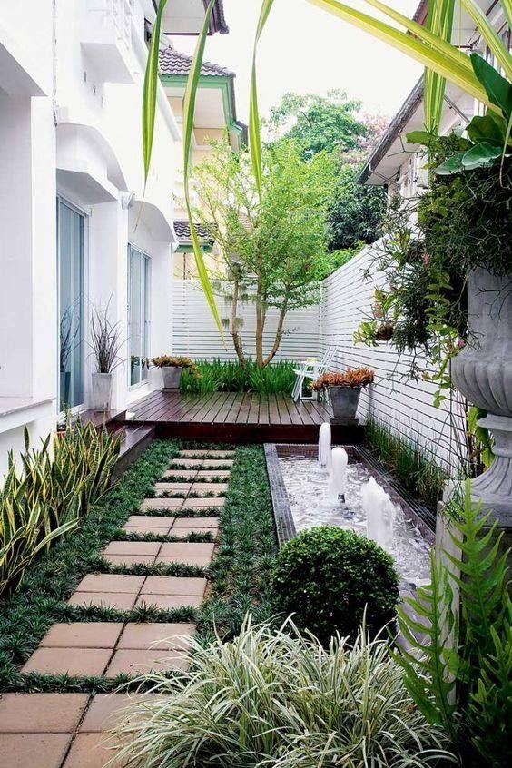 精致的庭院景观