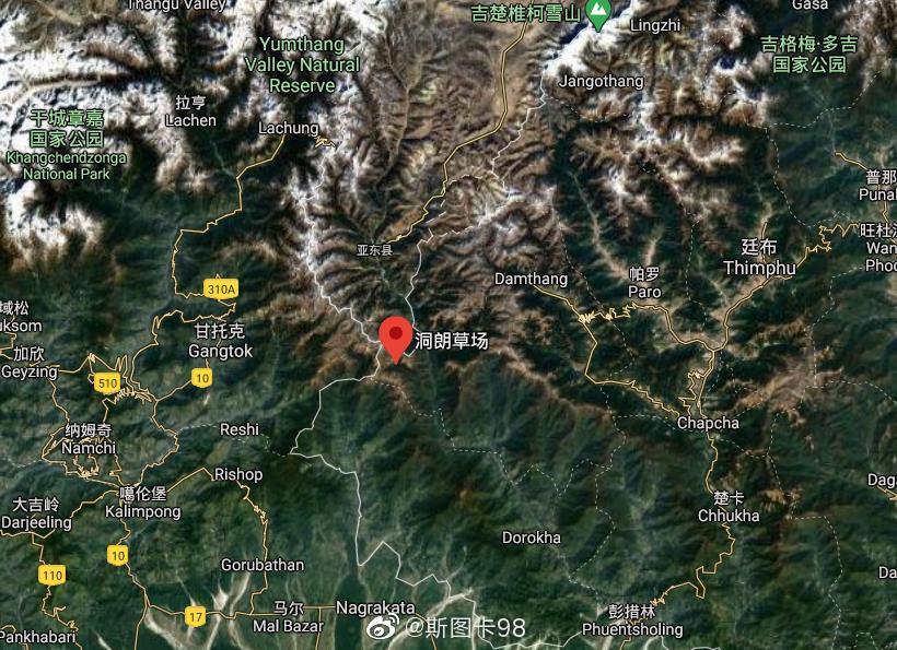 洞朗冲突后,亚东沿亚东河谷修了一条路通到了洞朗曲河口