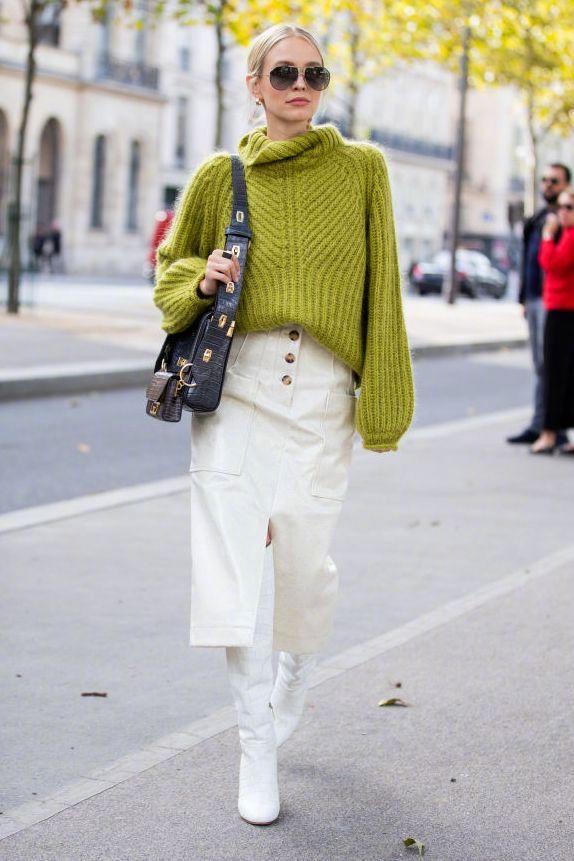春日毛衫的时尚配搭——针织毛衣穿得时髦有型且又不显臃肿