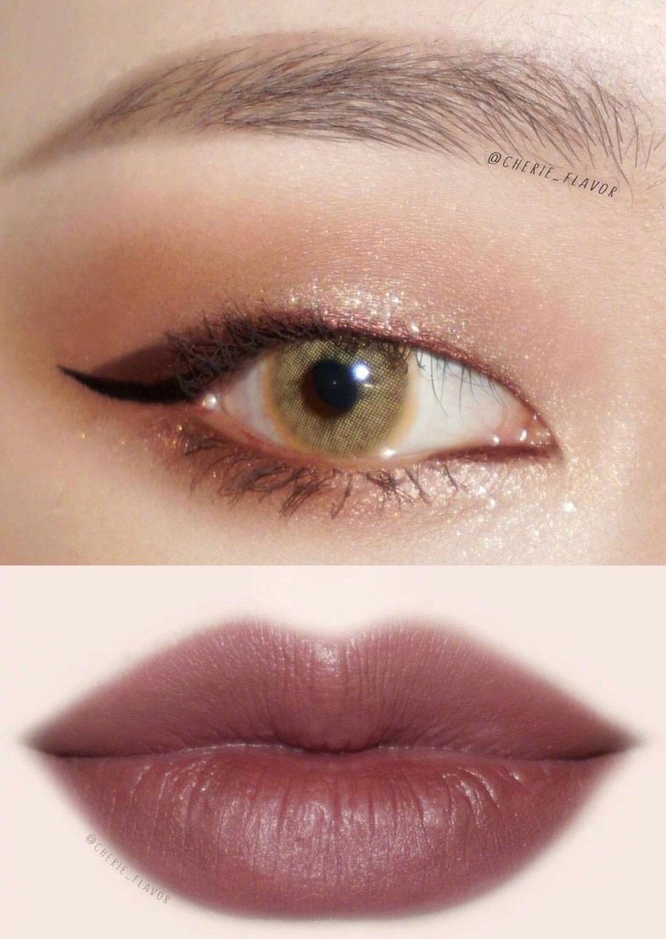 单眼皮眼唇妆 巧妙利用美瞳也可以打造混血气质