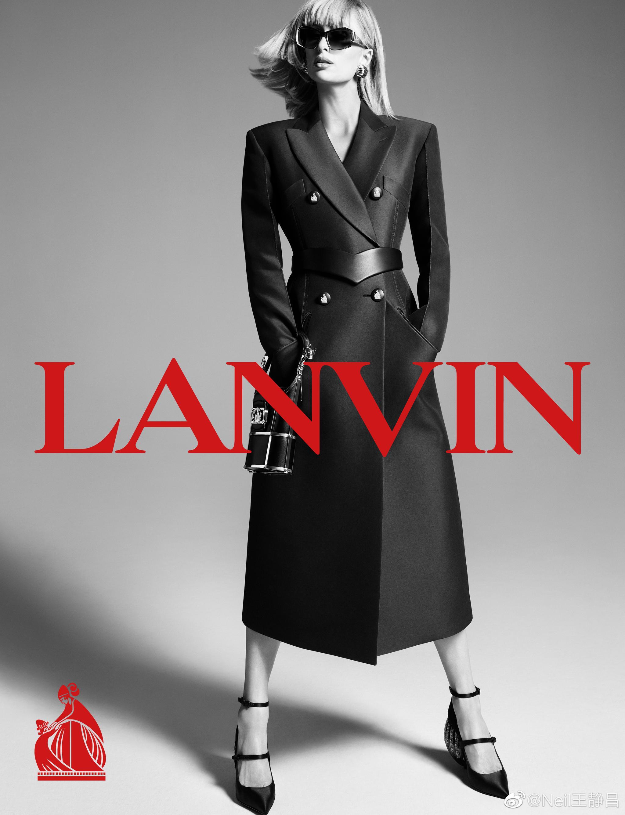 LANVIN 2021 春夏系列广告大片请来Paris Hilton 作为模特……