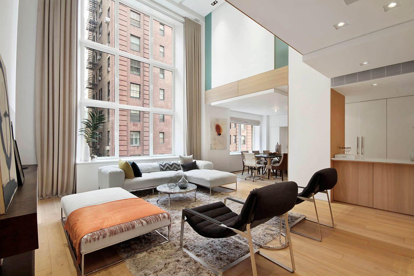 简约宜家风复式设计,大大的落地窗,让客厅通透