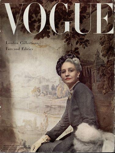 一组VOGUE杂志复古封面设计欣赏