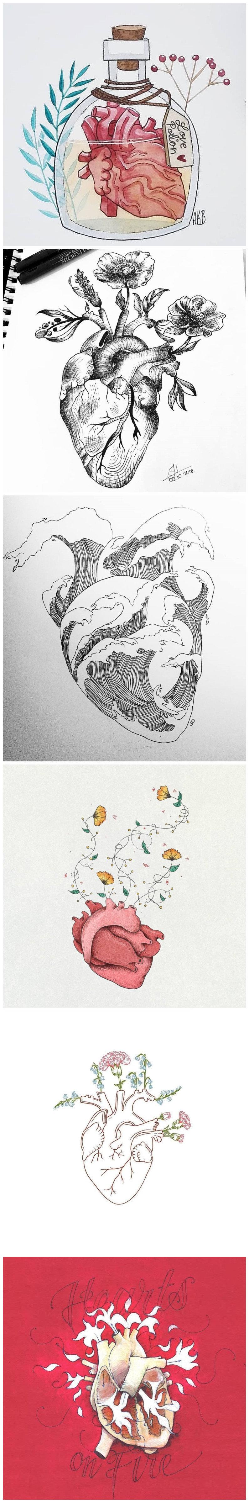 漂亮的心脏创意插画
