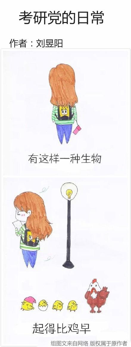考研党的日常。有目标就去努力!丨作者:刘昱阳