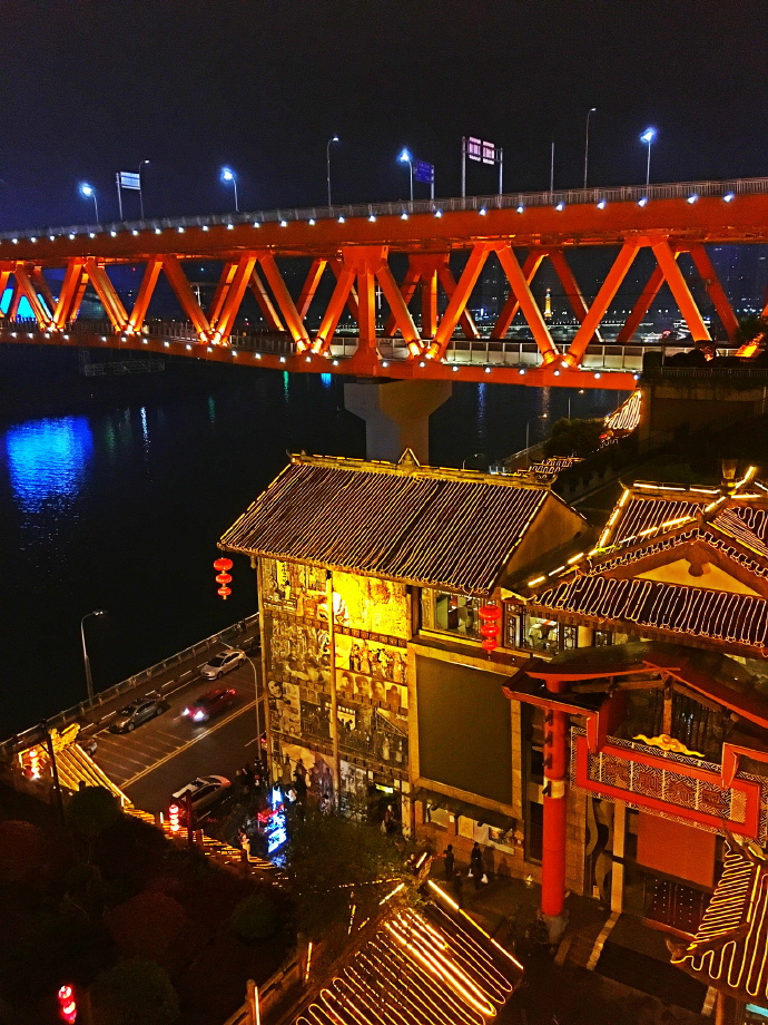 重庆洪崖洞,璀璨的夜景,你去了嘛?
