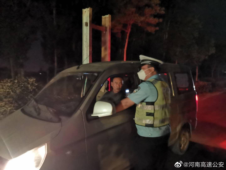 河南高速交警百日行动夜查中-菏宝高速长垣高速交警大队在行动