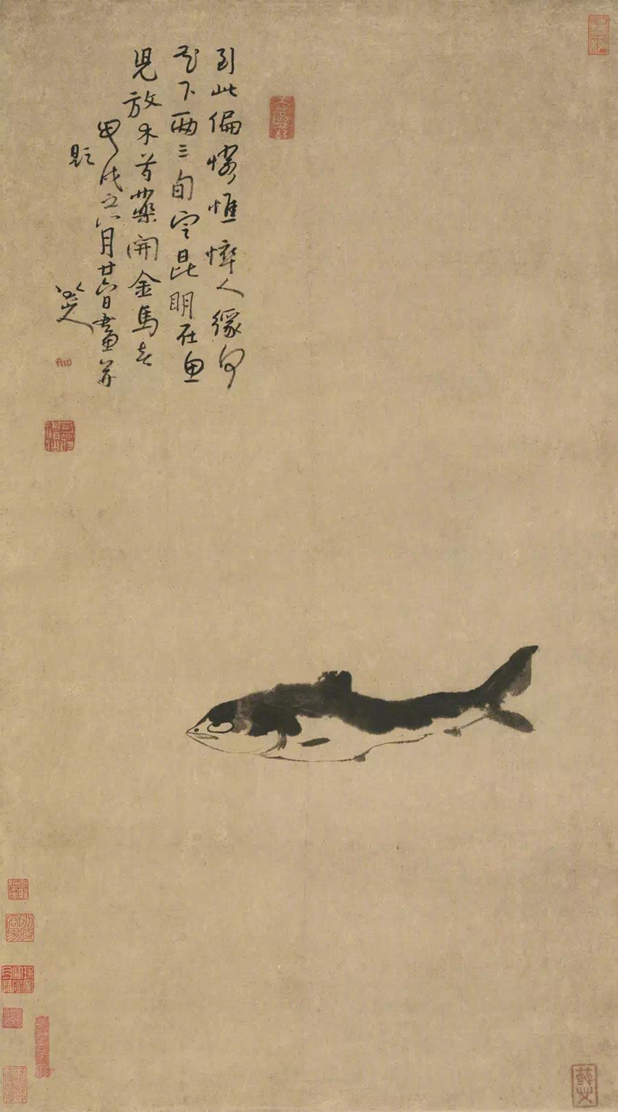 花鸟承袭陈淳、徐渭写意花鸟画的传统,发展为阔笔大写意画法