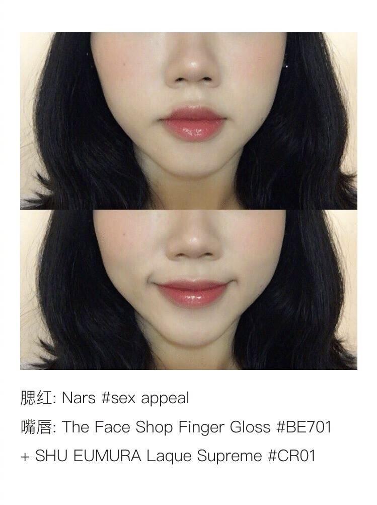 这些腮红和唇色的搭配技巧,能让妆容整体更加和谐~  (°ー°〃)