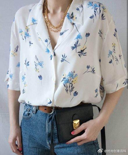 拥有独特时尚魅力vintage衬衫,轻薄舒适的质感➕有趣图案