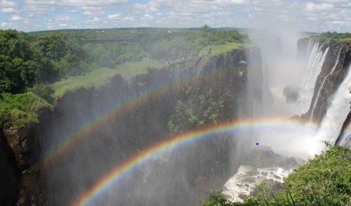 维多利亚瀑布,壮观而奇美。