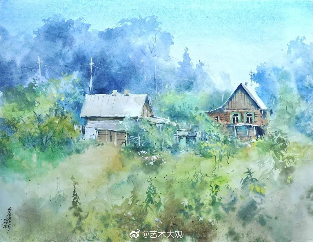 俄罗斯画家伊戈尔·哈伊科夫风景水彩画欣赏-1