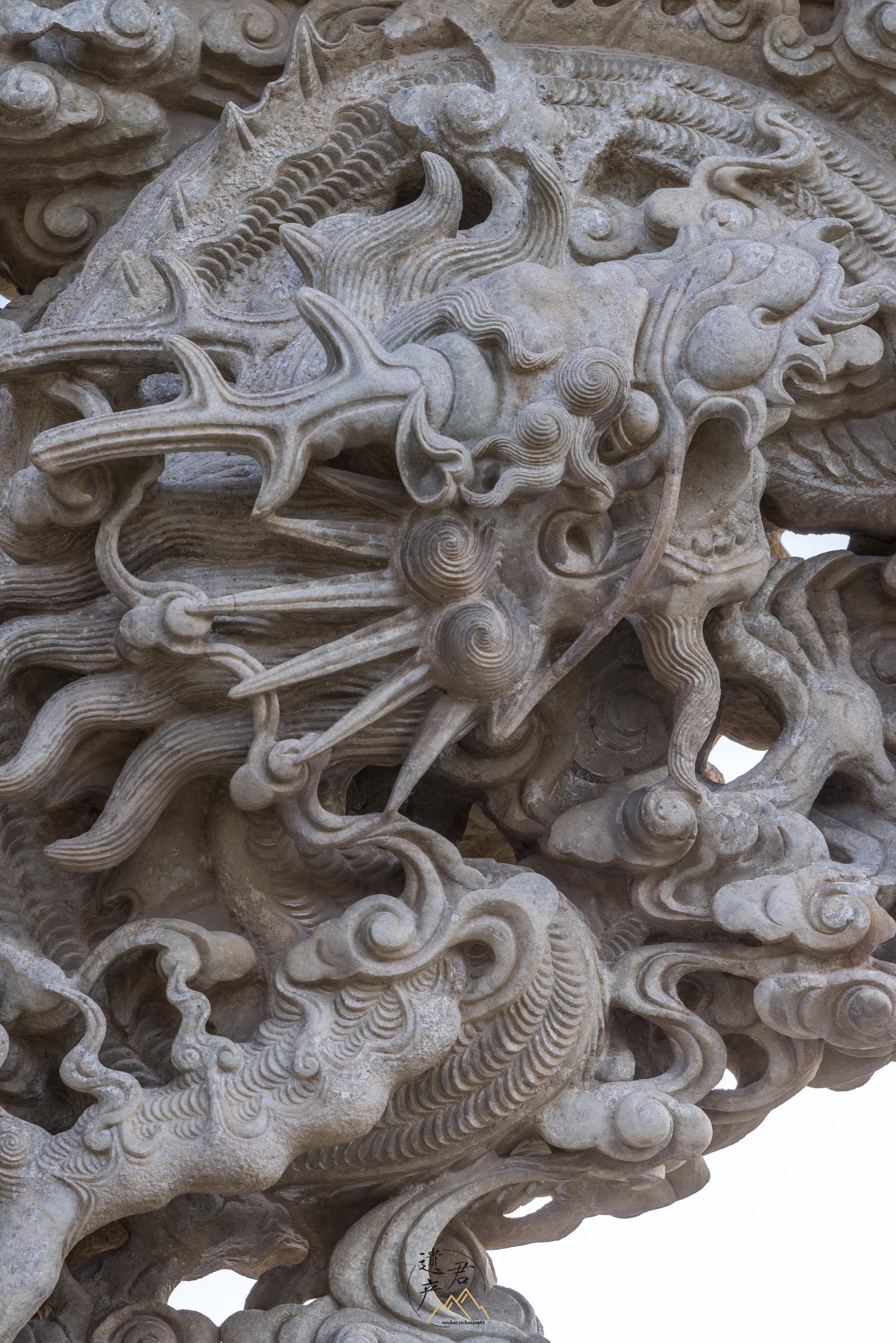 山西五台山龙泉寺的石雕工艺,为民国时期作品