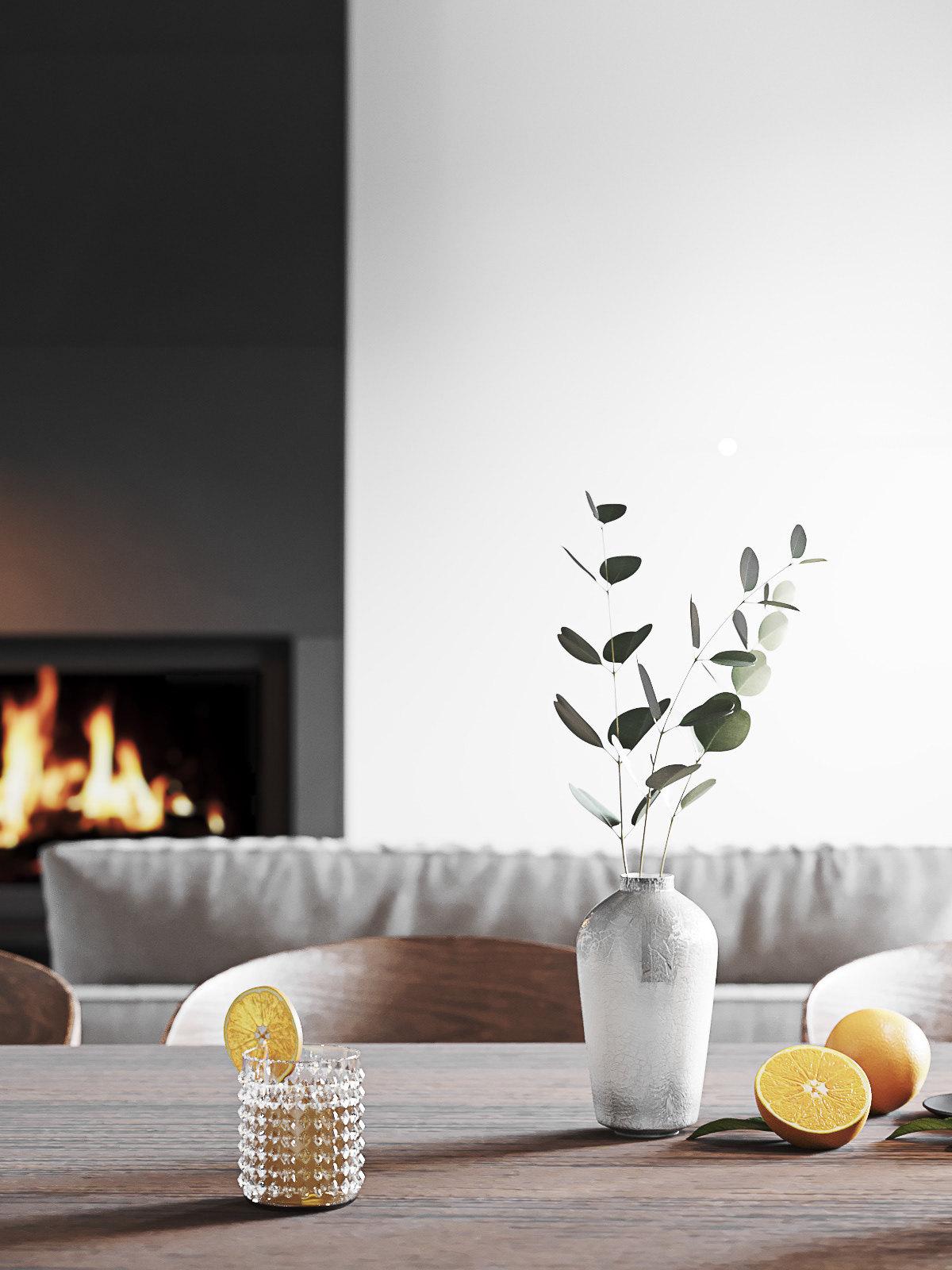 纯白空间丨客餐厅设计汕头设计师/汕头室内设计