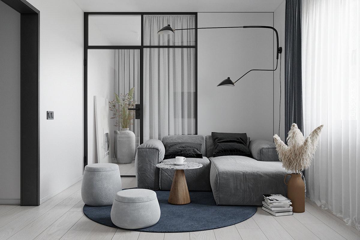 49㎡小公寓,教科书般的设计汕头设计师/汕头室内设计