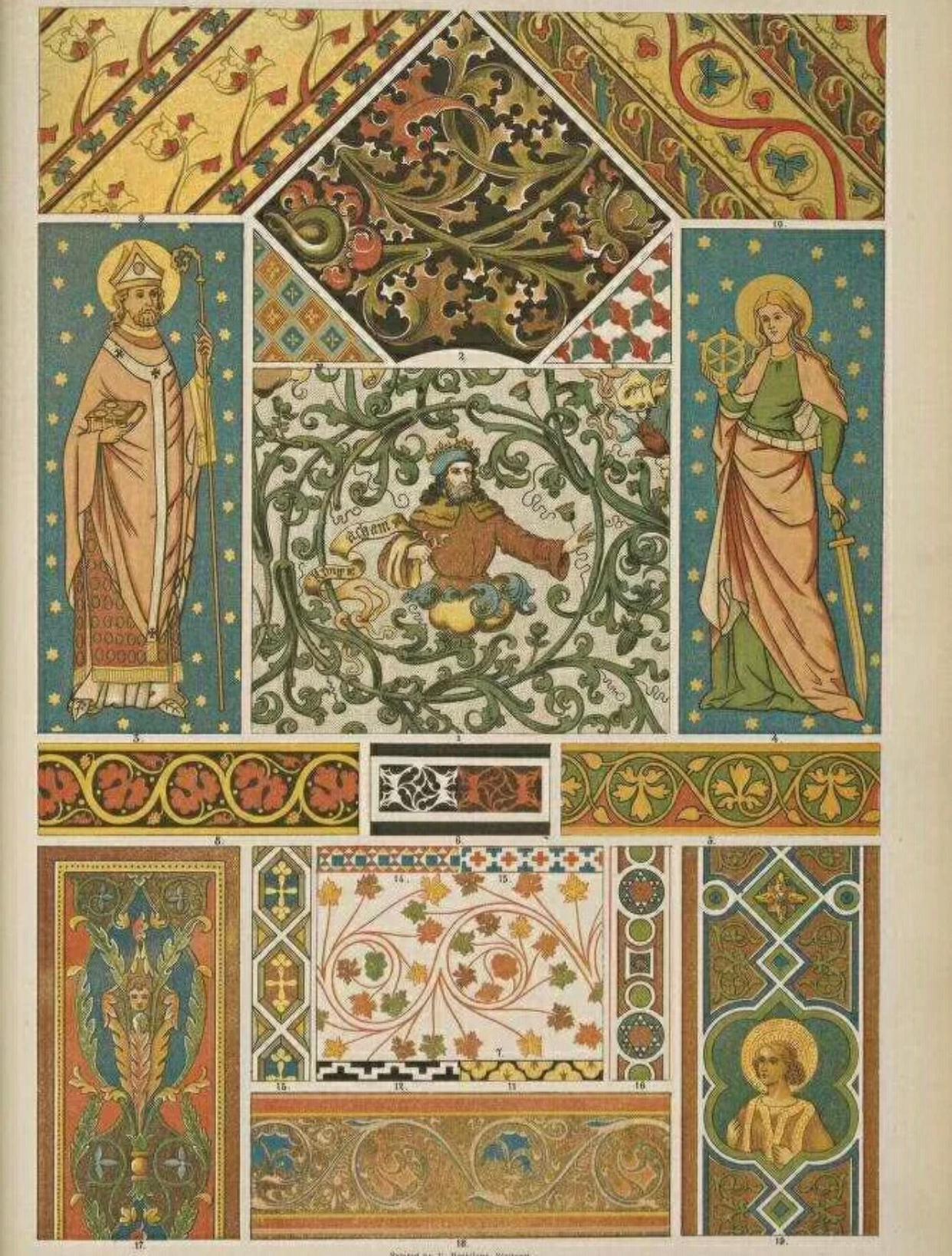值得收藏的中世纪教堂装饰手绘稿