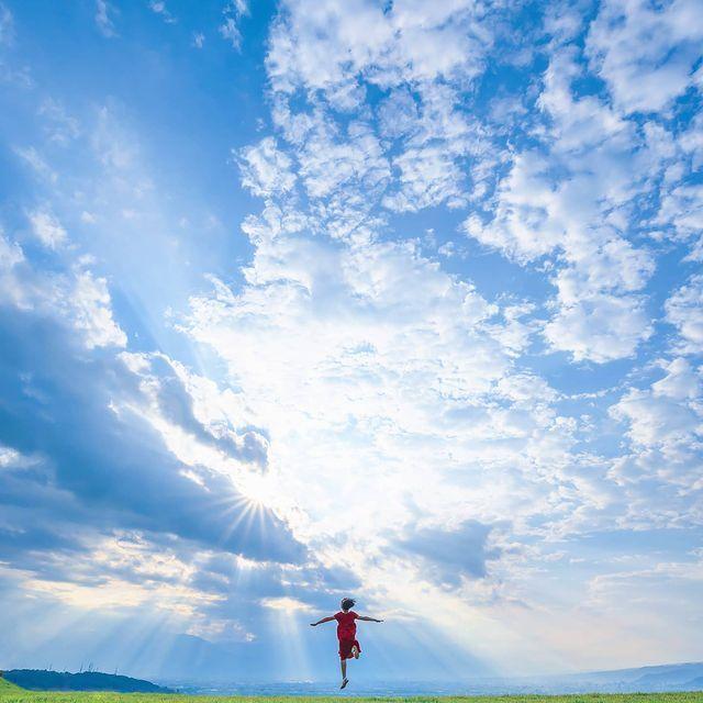 一位日本女摄影师为孩子拍的旅拍照,太好看了