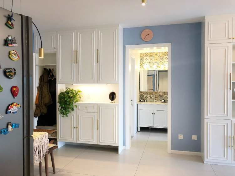 84㎡简约北欧风格二居室丨丁涵设计