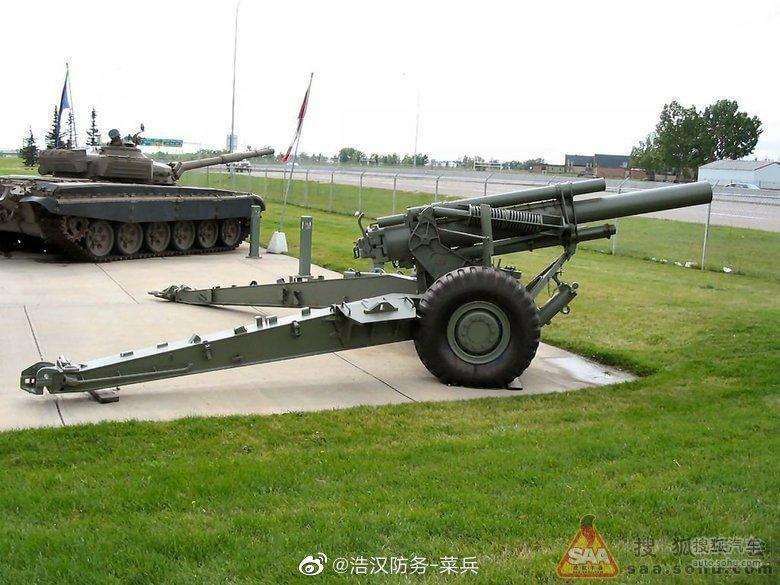 M114式榴弹炮是美国于1942年装备美军的一种155mm牵引榴弹炮