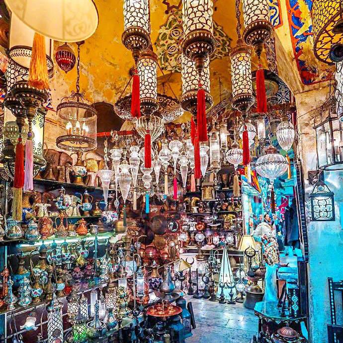 伊斯坦布尔的琉璃灯集市,感觉太美了!