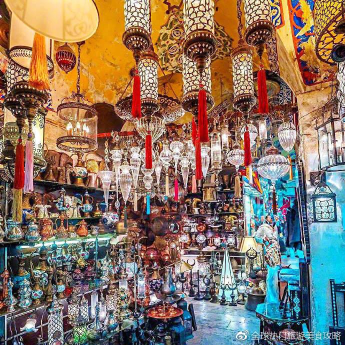 伊斯坦布尔的琉璃灯集市,眼花缭乱