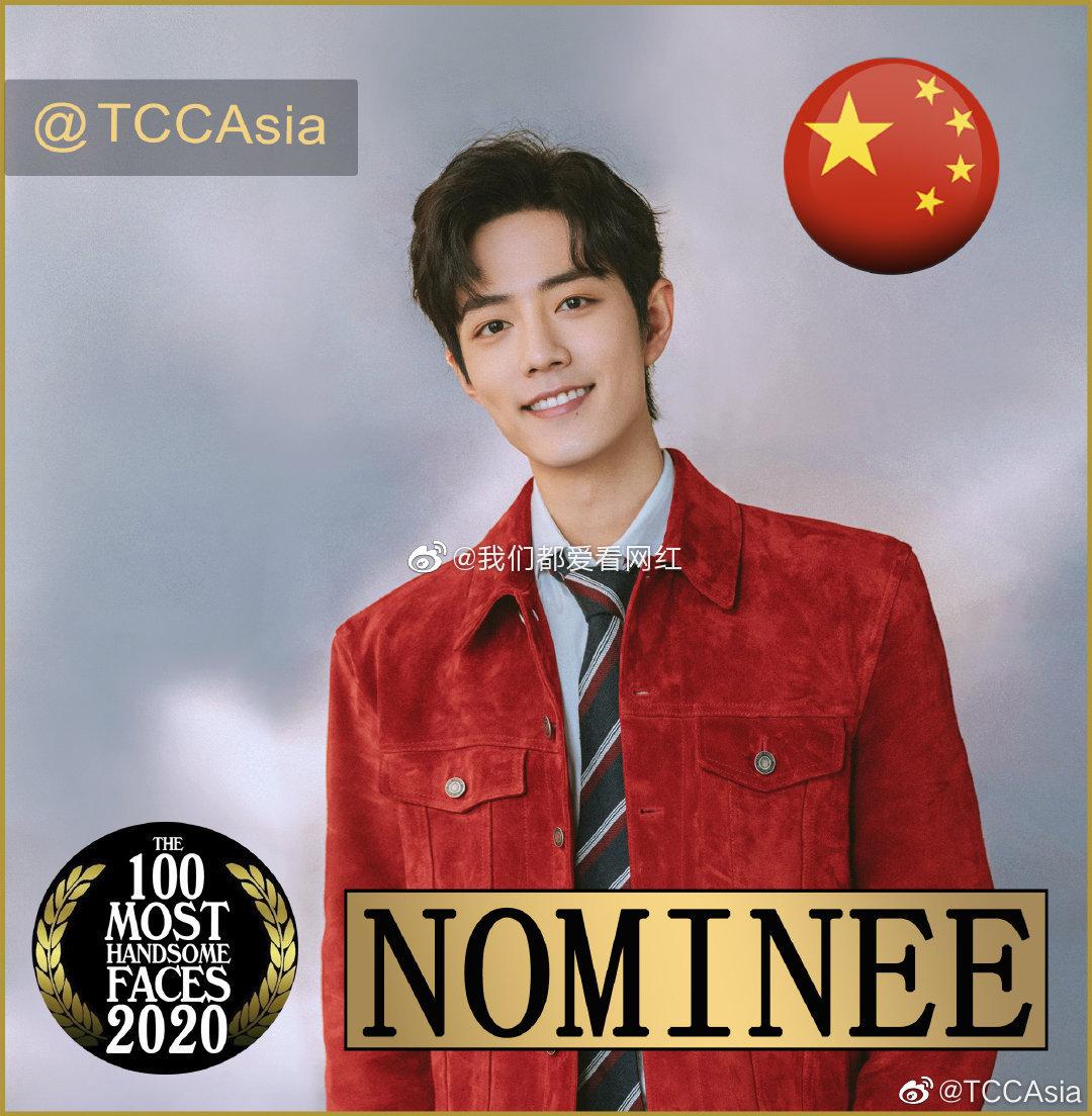 目前入围2020亚太区最美100张面孔的国内男明星:肖战,邓伦,王一博