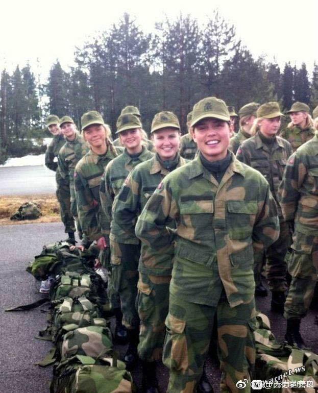 盗图转发,挪威女兵……都特么龙骑兵