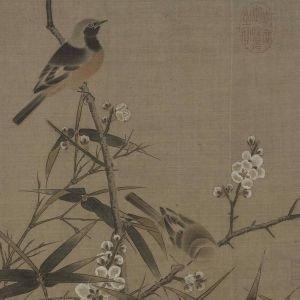 仇英尤其擅画人物,偶作花鸟,亦明丽有致