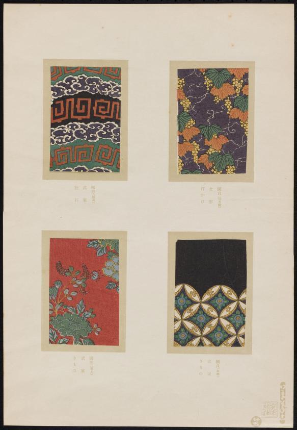 1860年的日本传统装饰纹饰