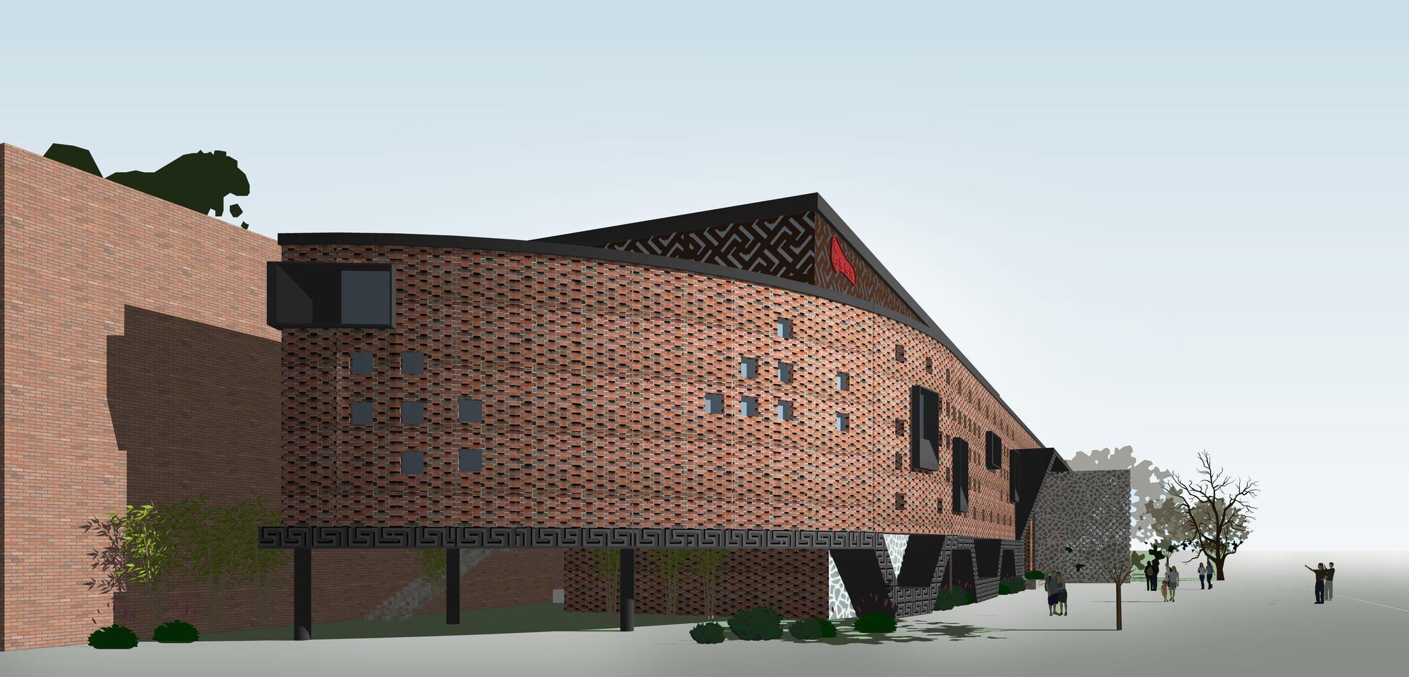 用红砖墙叙事,一个建筑改造设计方案 - 紫砂壶博物馆- …