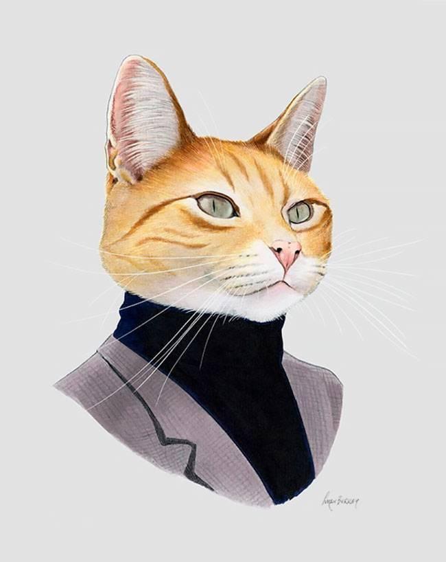穿西装的动物美国插画家 Ryan Berkley