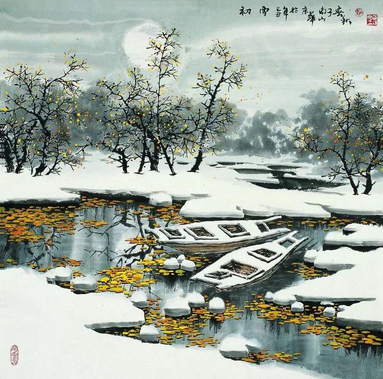 赵春秋最美冰雪山水作品欣赏