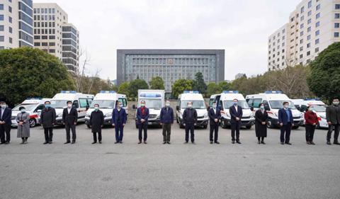 通源集团、宏立城集团向省红十字会捐赠救护车及医用物资