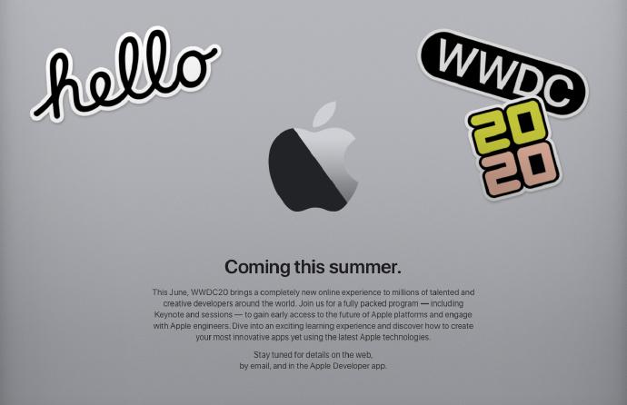侃哥:WWDC2020改为线上举行 Apple官网或迎来一波更新