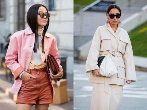 """本季时髦单品:""""Shirt+Jacket""""的结合体,保暖又时尚"""
