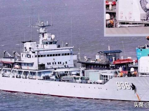 "072II坦克登陆舰""海洋山号"",承担了我国的电磁轨道炮试验任务"