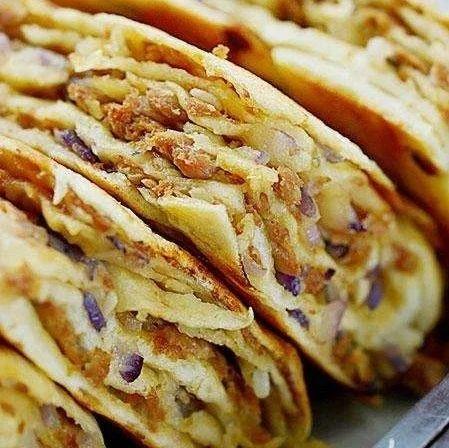 今日菜谱 | 香辣素鳝、香菇牛肉千层饼