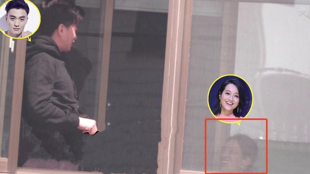 朱丹夫妇在阳台上有说有笑,感情和睦,周一围素颜发型凌乱显邋遢