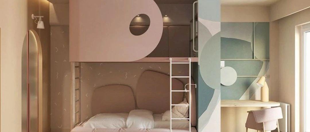 分享:86㎡现代复式设计,以圆为主题的家,看了就舒服!