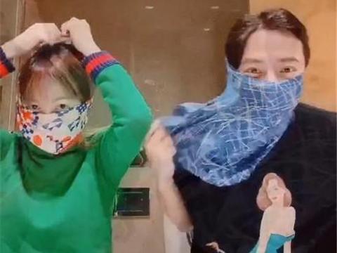 孙耀威与陈美诗头上套内裤引争议,买不到口罩还是博眼球?