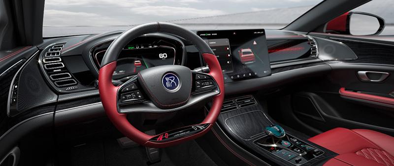 后排首次曝光/方向盘或有新功能 比亚迪汉EV版最新内饰官图