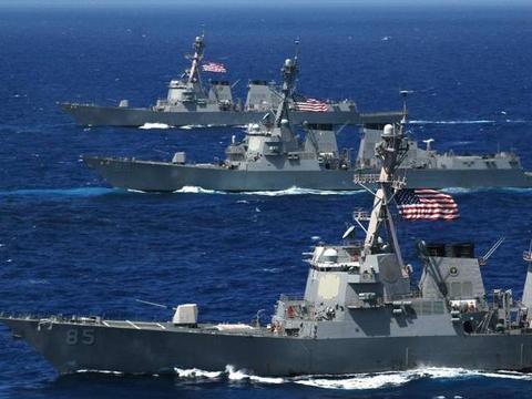 美军编队擅闯禁区,6架轰炸机挂实弹升空,损失两个2航母战斗群