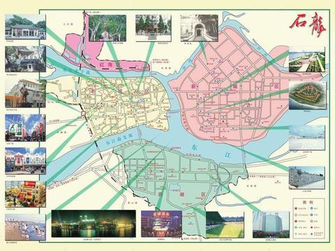 卫星上看广东东莞石龙镇:被东江环抱,是国家历史文化名镇