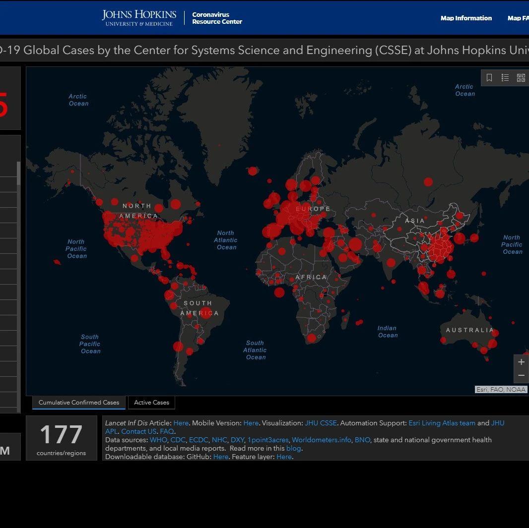 为何美国疫情数据由约翰斯·霍普金斯大学发布,而不是政府?
