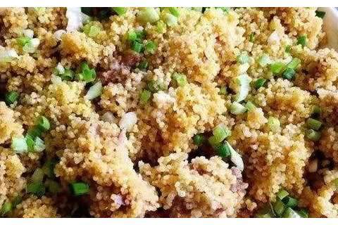 排骨新吃法,小米蒸排骨的做法,米香肉烂健康营养,非常的好吃